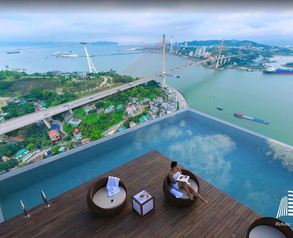 bể bơi vô cực của dự án Green diamond Hạ Long